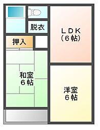 東京都三鷹市井口1丁目の賃貸マンションの間取り