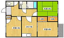 兵庫県神戸市垂水区名谷町字社谷の賃貸アパートの間取り