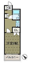 東京都町田市森野2丁目の賃貸マンションの間取り