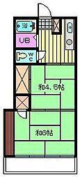 石栄コーポ[204号室]の間取り
