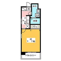ローズモント・フレア博多駅前[4階]の間取り