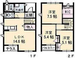 [テラスハウス] 香川県高松市太田上町 の賃貸【/】の間取り