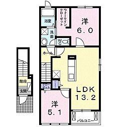 ラ・ソレイユ・ドゥ[2階]の間取り