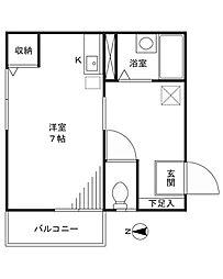 ケンズハウス[301号室]の間取り