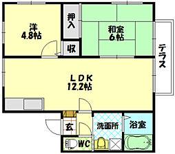 エスティ71[2階]の間取り