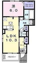 ルラシオン[1階]の間取り
