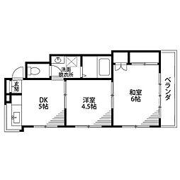 第一中山ビル[B302号室]の間取り
