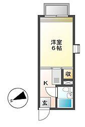 レジデンス松が丘[2階]の間取り