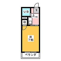 パークサイドムサシ[2階]の間取り