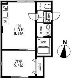 東京都江東区大島1丁目の賃貸アパートの間取り