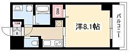 アリエッタNagoya 6階1Kの間取り