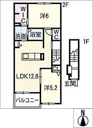ドルチェ[2階]の間取り