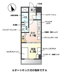 M-stage Aoi[6階]の間取り