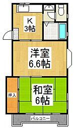 富士見町マンション[2階]の間取り
