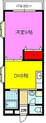 プチエトワール2番館[1階]の間取り