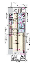 Osaka Metro堺筋線 天神橋筋六丁目駅 徒歩7分の賃貸マンション 8階1Kの間取り