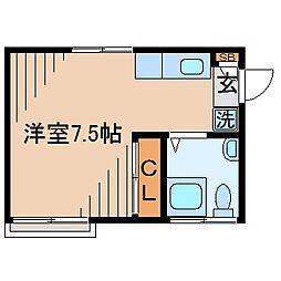 内山アパート[1階]の間取り