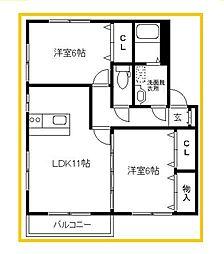 MINORI-SOU[1階]の間取り