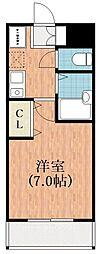W.O.Bレマーニー阪南町[3階]の間取り