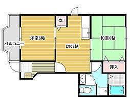 ゾーナヴェルデ1番館[1階]の間取り
