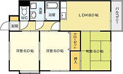 コンフォートヒサノA棟[2階]の間取り