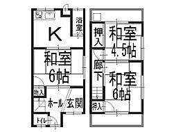 [テラスハウス] 大阪府堺市西区浜寺石津町西4丁 の賃貸【/】の間取り