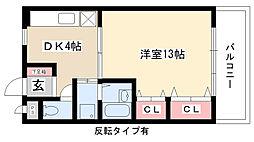 ビューティ武田[207号室]の間取り