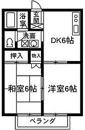 リバーハイツ藤岡[1階]の間取り