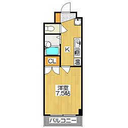 グレイスガーデン京都[2階]の間取り