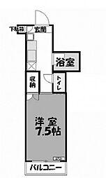 三徳ハイツ3[3階]の間取り