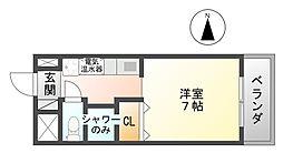 サリュー塚口[6階]の間取り