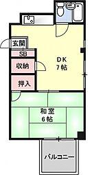 志賀の家ビル[502号室号室]の間取り