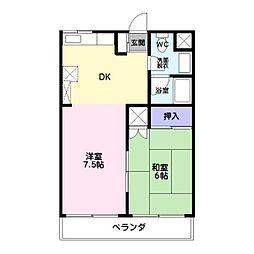 レジデンス白樺[2階]の間取り