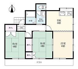 東新庄アパート[2階号室]の間取り