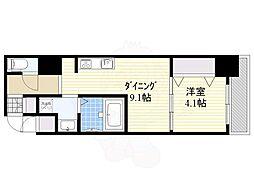 S-RESIDENCE江坂Eminence 12階1LDKの間取り