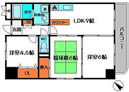 ロイヤルファミリー都古邸[4階]の間取り