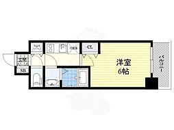 名古屋市営桜通線 丸の内駅 徒歩4分の賃貸マンション 8階1Kの間取り
