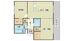 k・プラウド[1階]の間取り