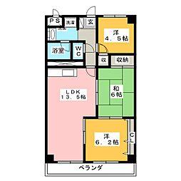泉ヶ丘ハイツII[4階]の間取り