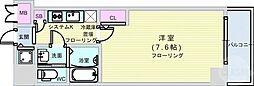 レジュールアッシュ難波MINAMI 9階1Kの間取り