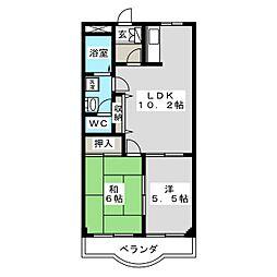 クオリティー下中野 III[2階]の間取り