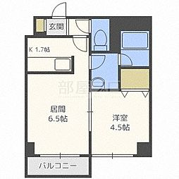 北海道札幌市北区北二十六条西5丁目の賃貸マンションの間取り