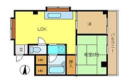 埼玉県さいたま市中央区大戸2丁目の賃貸マンションの間取り
