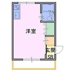 ハイツ山茶花[4階]の間取り