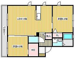 カーサ・エスパーダII[2階]の間取り