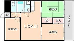 ヒノデハイツ3号館[2階]の間取り