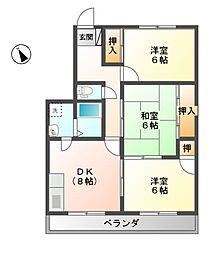 ベルエポックOGAWA[2階]の間取り