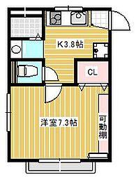 ハウス・ビル[2階]の間取り