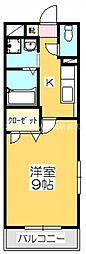 香川県高松市松並町の賃貸マンションの間取り