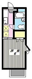 ベルフォーレ鶴川[1階]の間取り